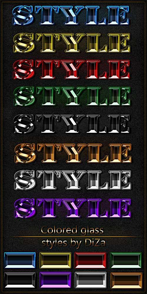 Цветные стеклянные стили