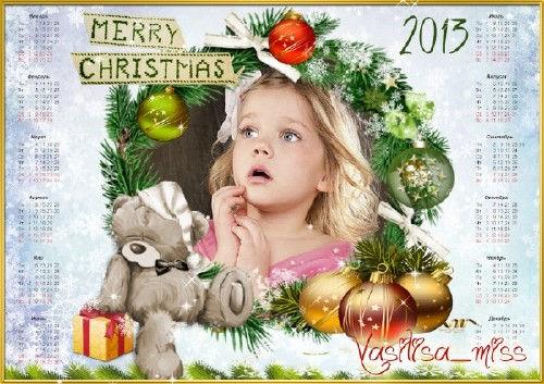 Новогодняя рамка-календарь на 2013 год