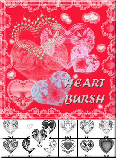 Heart bursh