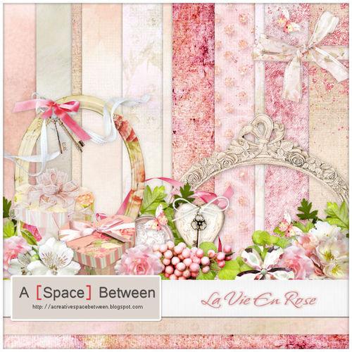 Скрап-набор La Vie En Rose