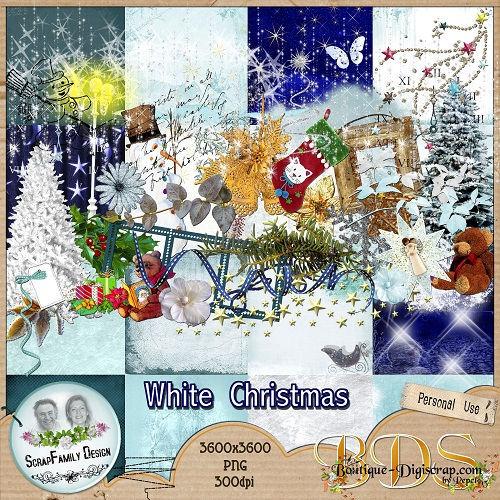 Скрап-набор Снежное рождество