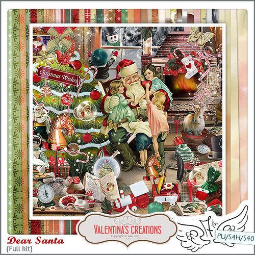 Скрап-набор Dear Santa