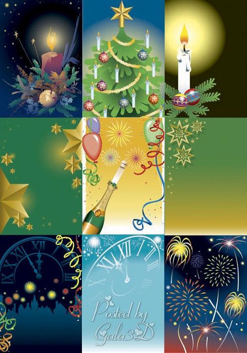 Коллекция новогодних фонов