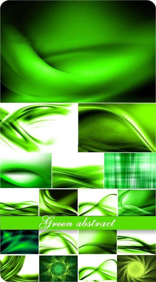 Коллекция зеленых абстрактных фонов
