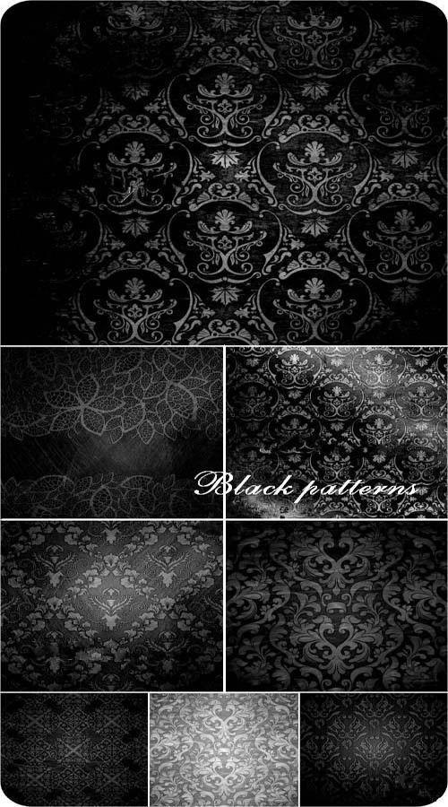 Набор высококачественных черных винтажных текстур