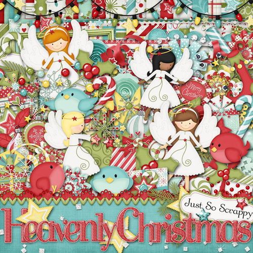 Скрап-набор Heavenly Christmas