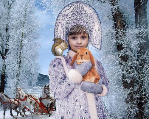 Шаблон  детский ''Новогодняя красавица''