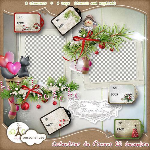 Мини набор кластеров и тегов / Calendrier de l'avent Jour 15 (clusters and ...