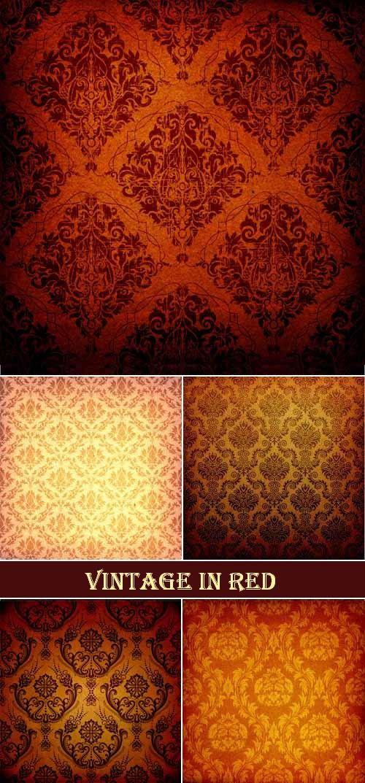 Винтажные текстуры в красных тонах
