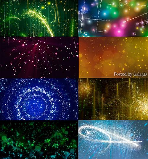 Абстрактные фоны со светящимися линиями