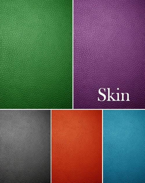 Текстуры кожи пяти цветов