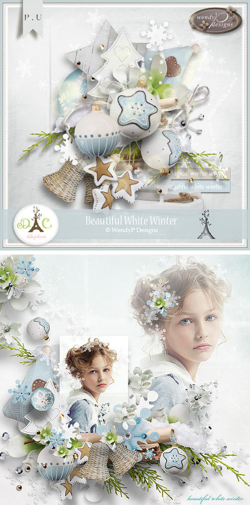 Скрап-набор Beautiful White Winter