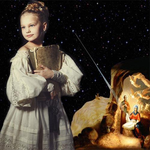 Шаблон  детский  ''Вифлеемская звезда''