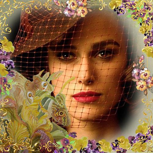 Рамка женская  ''Бабочки над ирисами ''