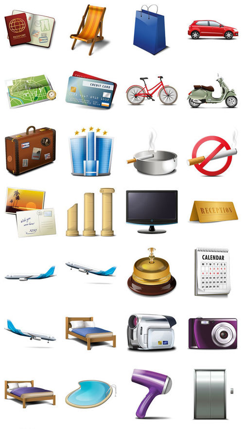 Icon Set Travel and Tourism. Part 1