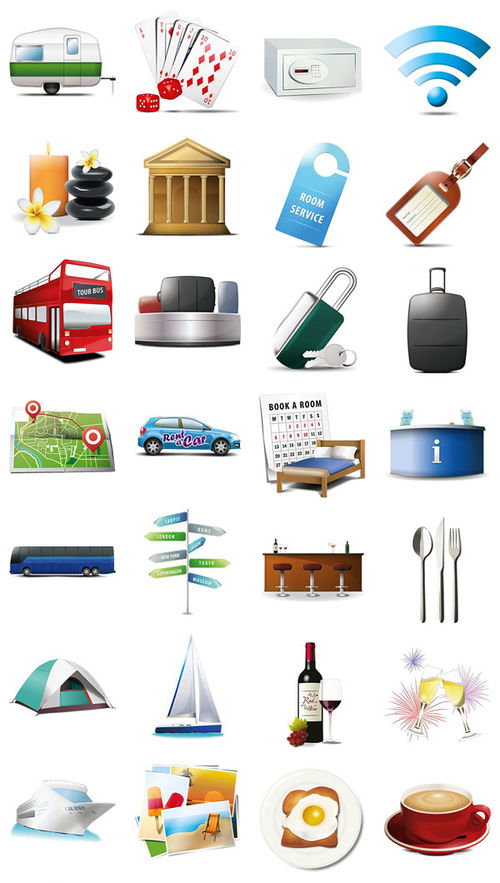 Icon Set Travel and Tourism. Part 2