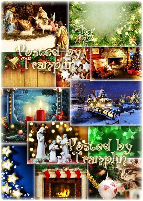 Праздничные рождественские фоны