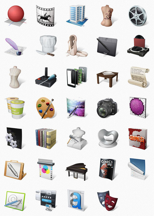 Art Professions Icons Set