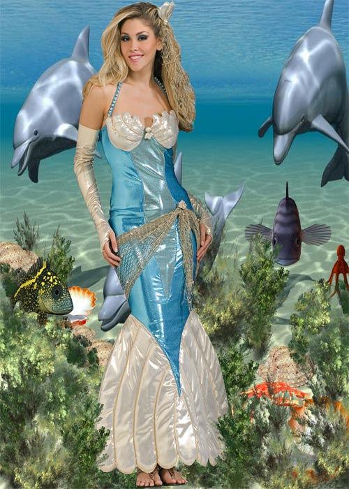 Шаблон  женский ''Владычица морская''