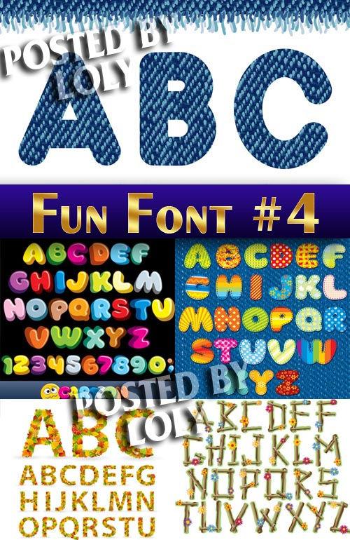 Векторный клипарт Веселые шрифты #4