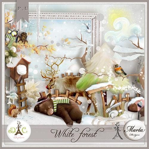 Скрап-набор White Forest