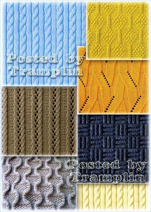Коллекция из 30-ти ярких и интересных вязанных текстур