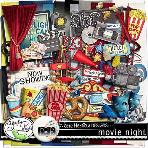 Скрап-набор Movie Night