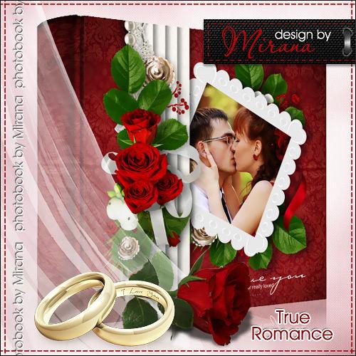 """Шаблон свадебной фотокниги и DVD шаблон """"True Romance"""""""