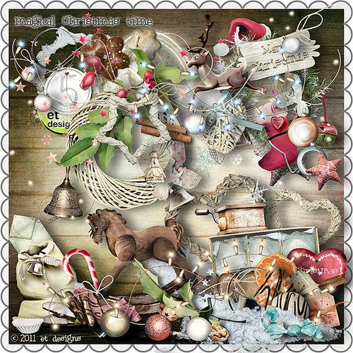 Скрап-набор Magical Christmas Time