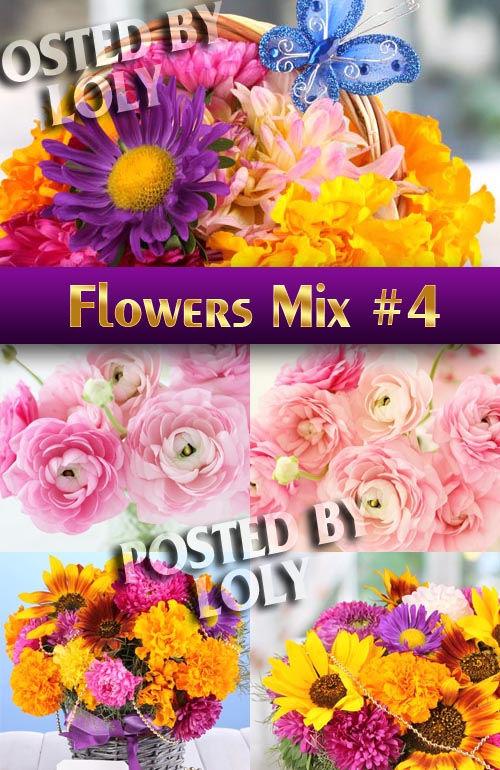 Растровый клипарт Цветочный Микс #4