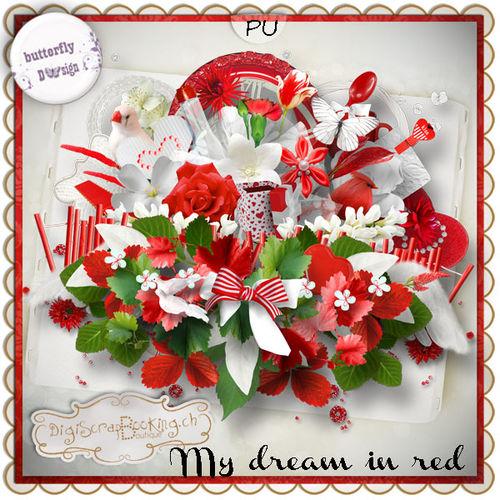 Скрап-набор My dream in red