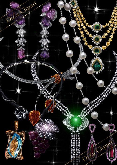 Роскошные ювелирные  украшения в png