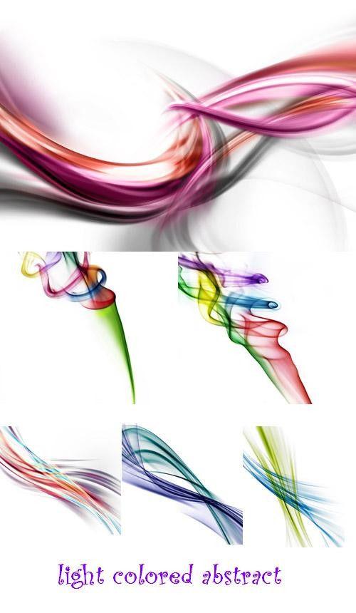 Большая коллекция легких цветных абстрактных фонов