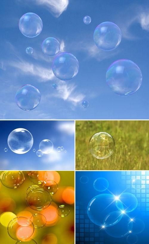 Набор фонов с пузырями