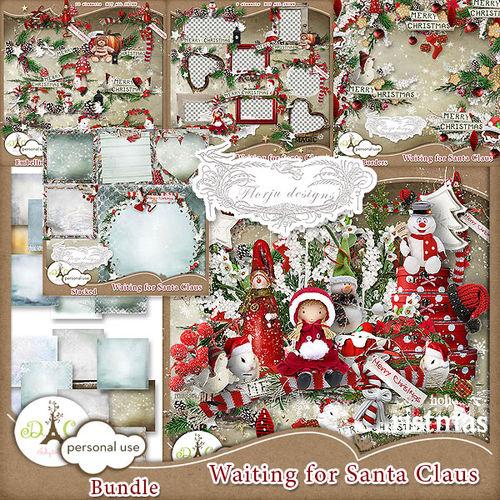 Скрап-набор Waiting Santa Claus