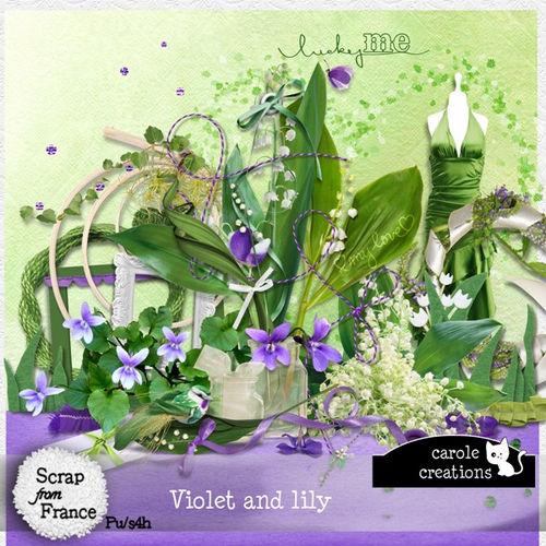 Скрап-набор Violet and Lily