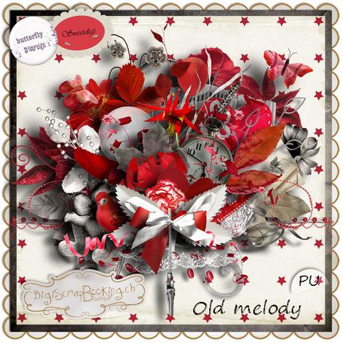 Скрап-набор  Old melody