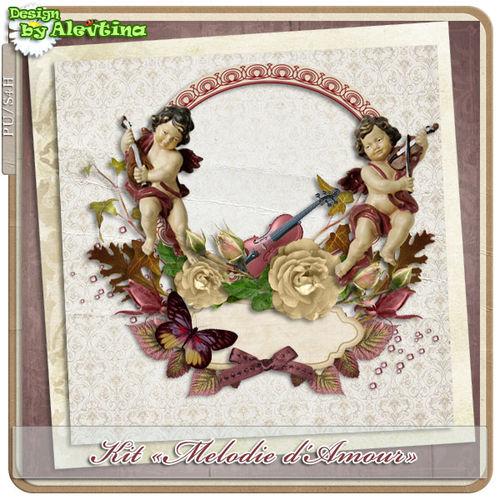 Мини скрап-набор Melodie d'Amour