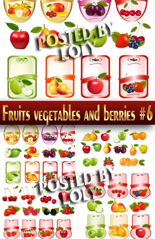 Векторный клипарт Фрукты, овощи и ягоды #6