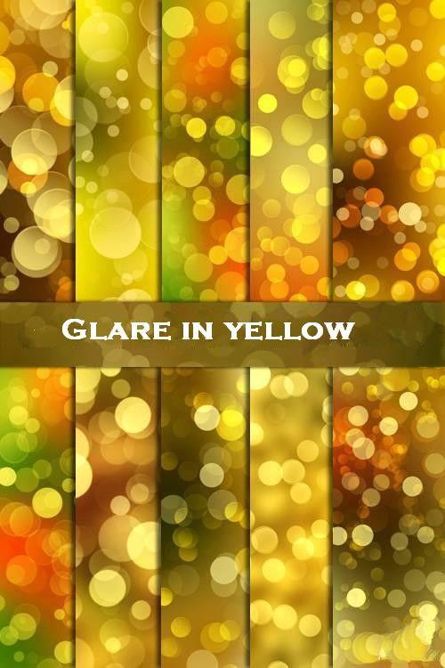 Как создать желтый блик