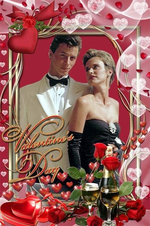 Романтическая рамка для влюбленных