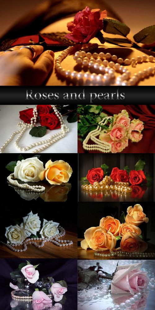 Композиции Розы и жемчуг
