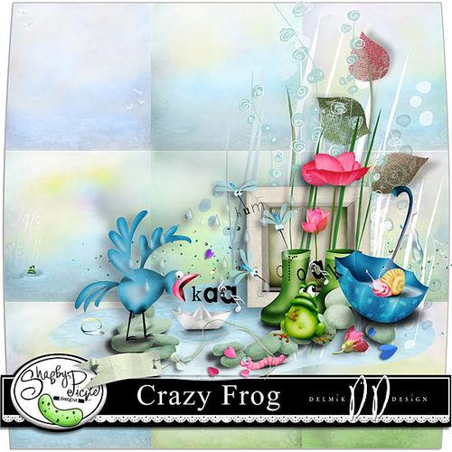 Скрап-набор Crazy Frog