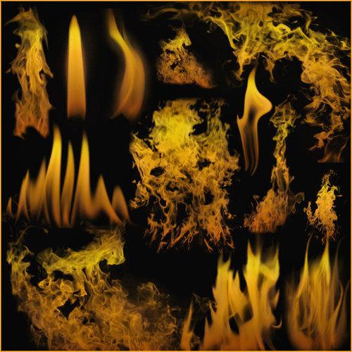 Кисти для фотошопа - Огонь и контур пламени свечи