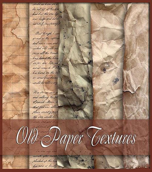 Мятое письмо и листы старой бумаги (набор текстур)