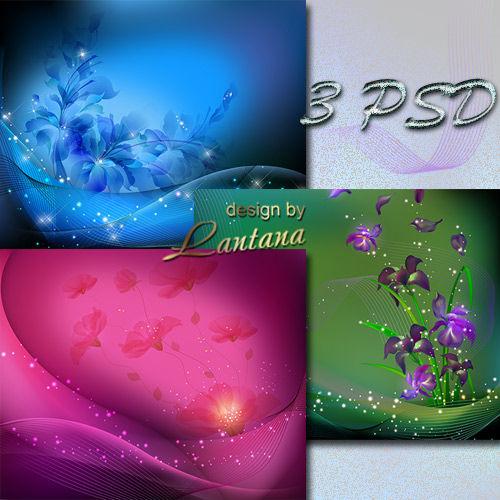 PSD исходники - Цветочная иллюзия
