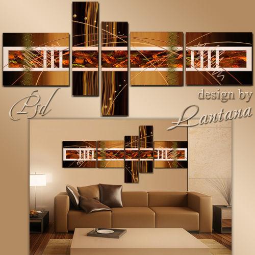 Полиптих в PSD - Абстракция в коричневых тонах
