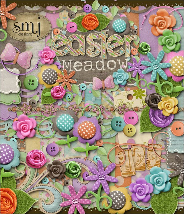 Скрап-набор Easter Meadow