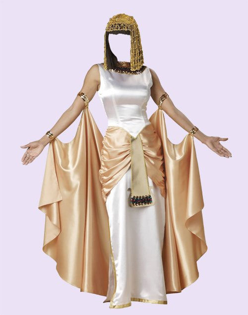 Женский шаблон  -  Клеопатра-царица Египта