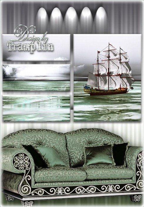 Полиптих – И белый парусник вдали уносит в море тайной силой